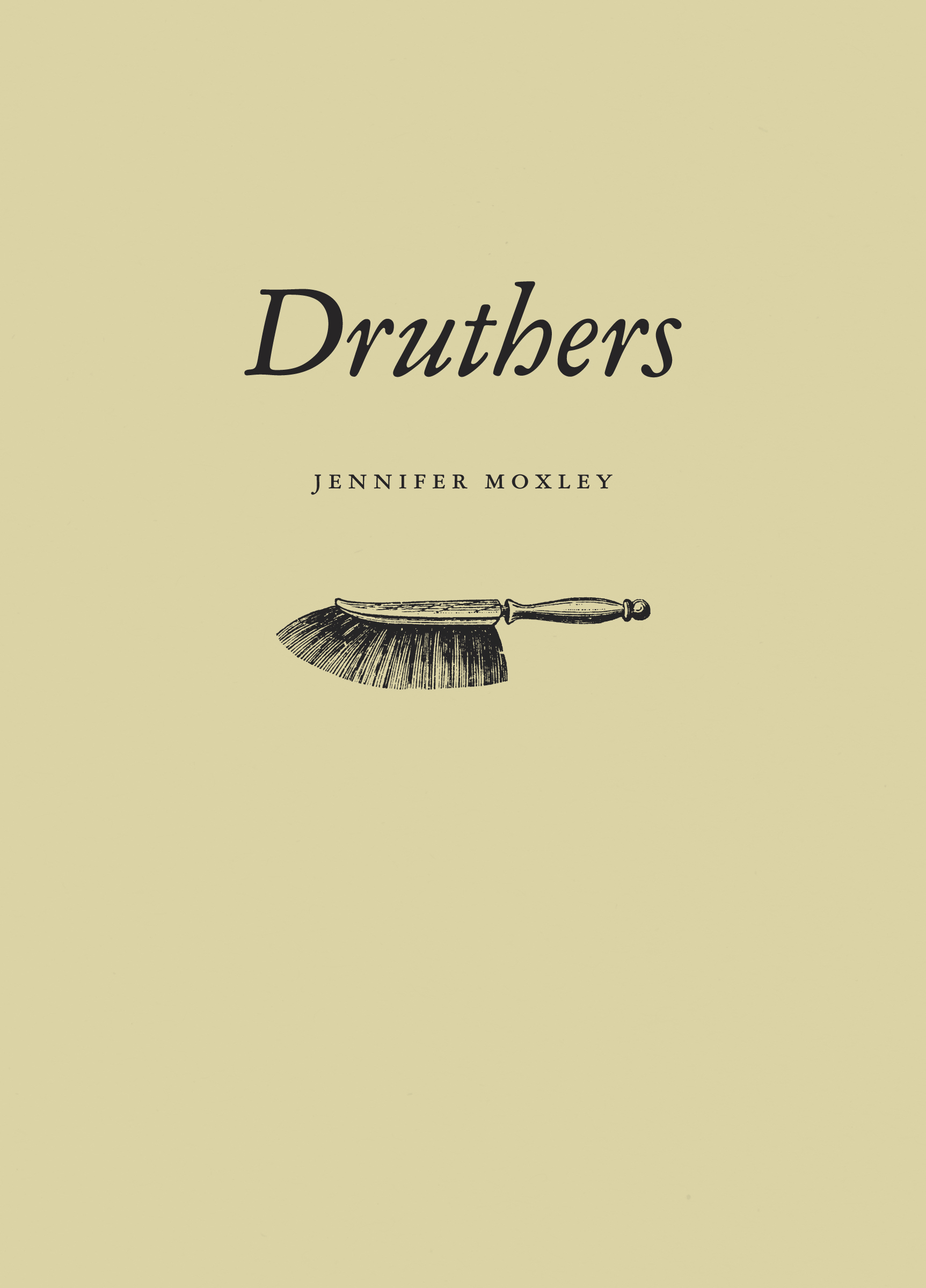 """Druthers"" book cover"